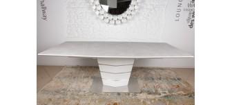 Стол обеденный BALTIMORE керамика капучино-белый