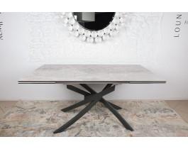 Стол обеденный LINCOLN керамика светло-серый глянец
