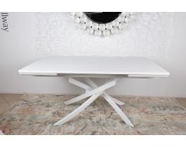 Стол обеденный LINCOLN шпон белый