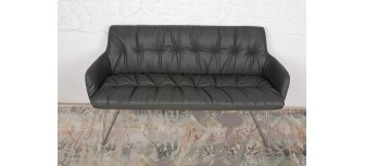 Кресло - банкетка LEON темно-серый