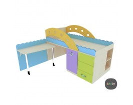 Кровать-чердак детский Городок Snite